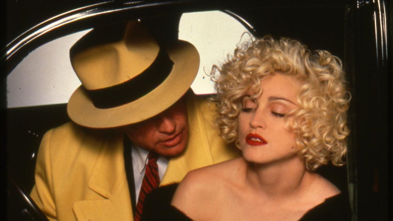"Warren Beatty and Madonna in 1990's ""Dick Tracy."""