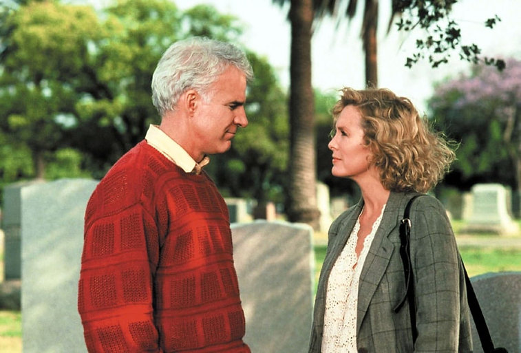 "Steve Martin and Victoria Tennant in 1991's ""L.A. Story."""