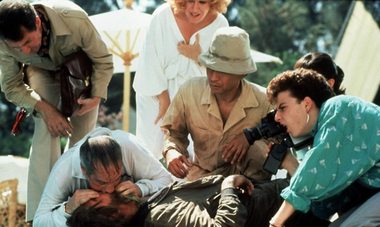"""Movie still from 1986's """"Down and Out in Beverly Hills."""""""