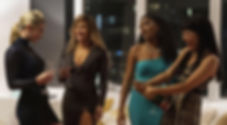 "Lili Reinhart, Jennifer Lopez, Keke Palmer, and Constance Wu in 2019's ""Hustlers."""