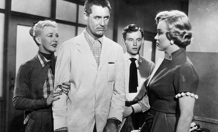 "Movie still from 1952's ""Monkey Business."""