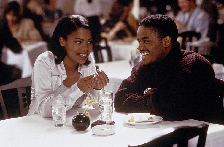 """Nia Long and Larenz Tate in 1997's """"Love Jones."""""""