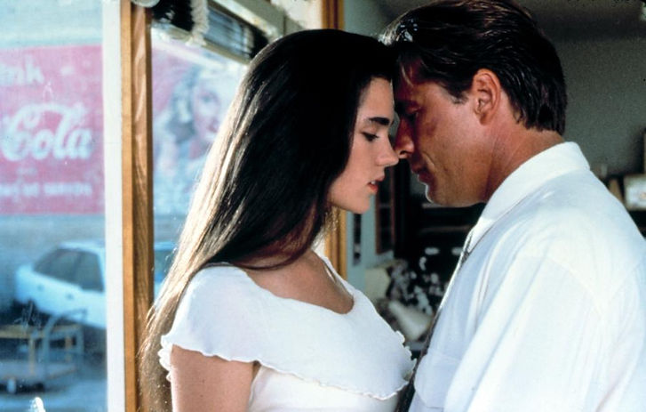 """Jennifer Connelly and Don Johnson in 1990's """"The Hot Spot."""""""