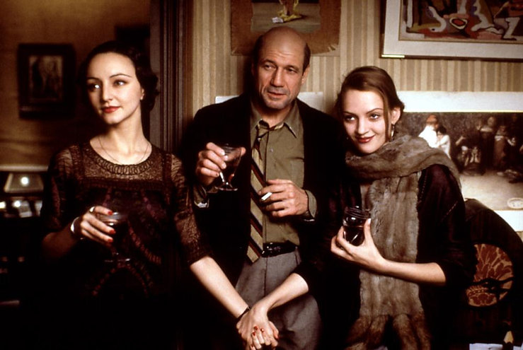 """Maria de Medeiros, Fred Ward, and Uma Thurman in 1990's """"Henry & June."""""""