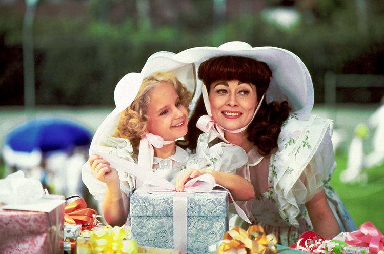 """Mara Hobel and Faye Dunaway in 1981's """"Mommie Dearest."""""""