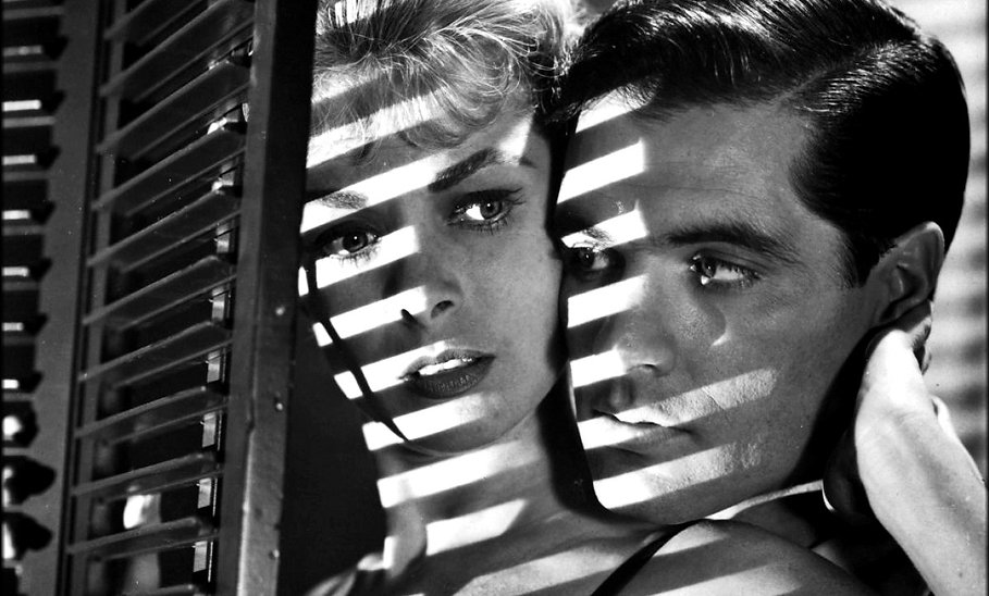 """Janet Leigh and John Gavin in 1960's """"Psycho."""""""