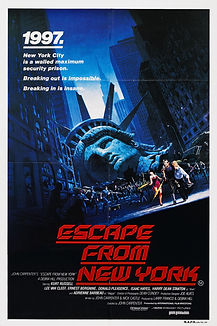 """Movie poster for 1981's """"Escape from New York."""""""