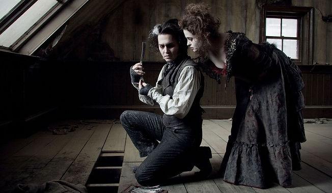 """Johnny Depp and Helena Bonham Carter in 2007's """"Sweeney Todd: The Demon Barber of Fleet Street."""""""