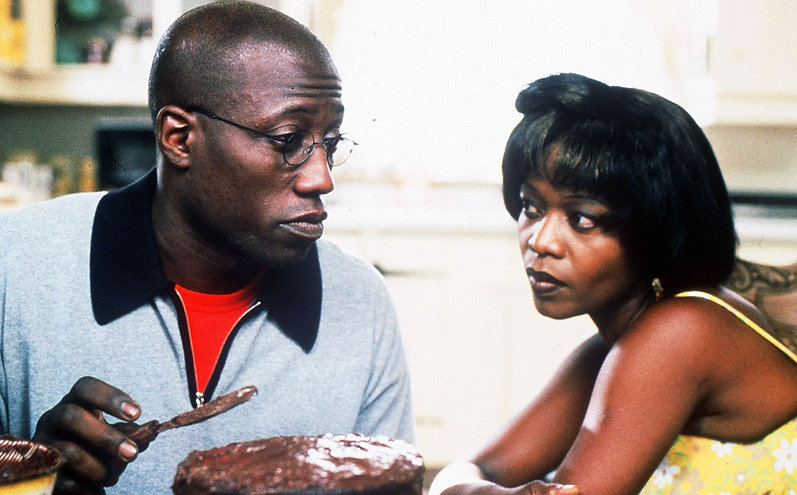 """Wesley Snipes and Alfre Woodard in 1998's """"Down in the Delta."""""""