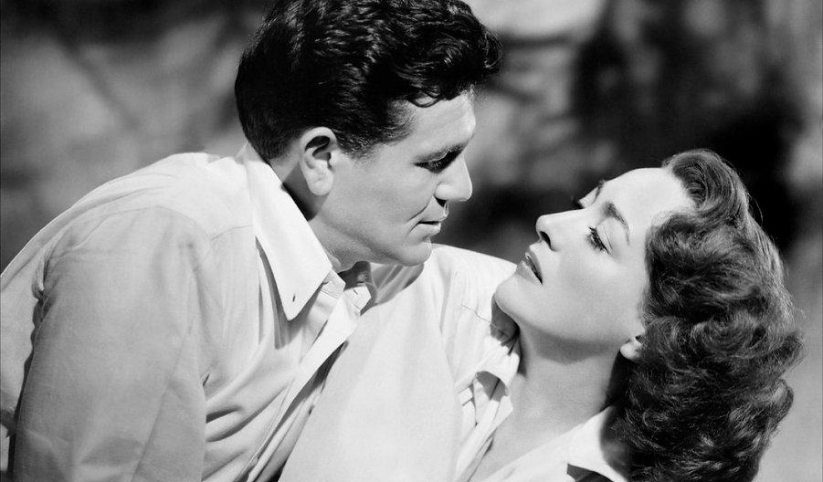 "John Garfield and Joan Crawford in 1946's ""Humoresque."""