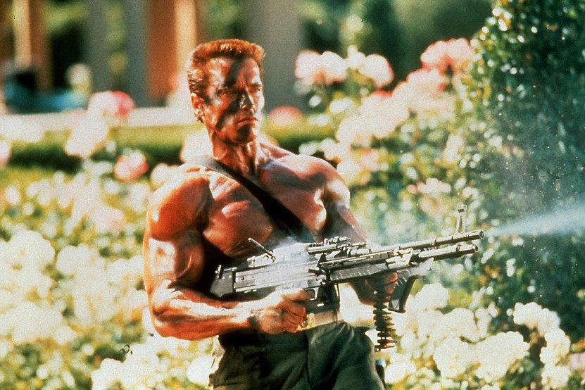 "Arnold Schwarzenegger in 1985's ""Commando."""