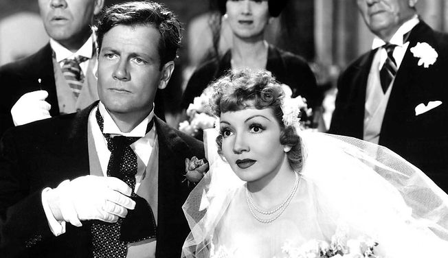 "Joel McCrea and Claudette Colbert in 1942's ""The Palm Beach Story."""