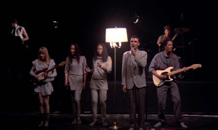 """The Talking Heads in 1984's """"Stop Making Sense."""""""