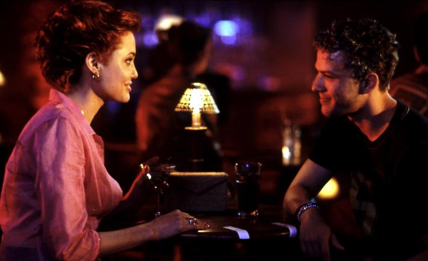 """Angelina Jolie and Ryan Phillippe in 1998's """"Playing By Heart."""""""