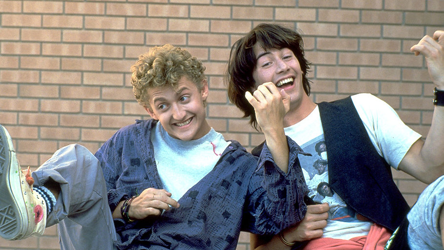 "Alex Winter and Keanu Reeves in 1989's ""Bill & Ted's Excellent Adventure."""