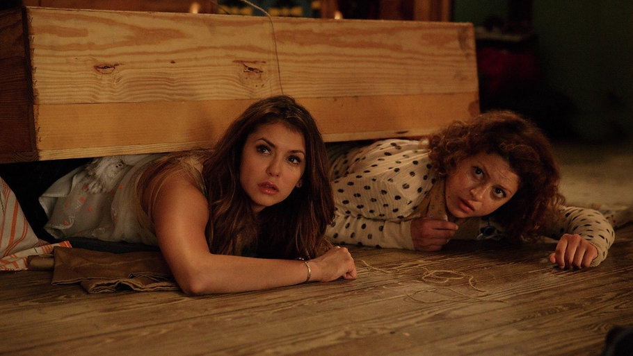 "Nina Dobrev and Alia Shawkat in 2015's ""The Final Girls."""
