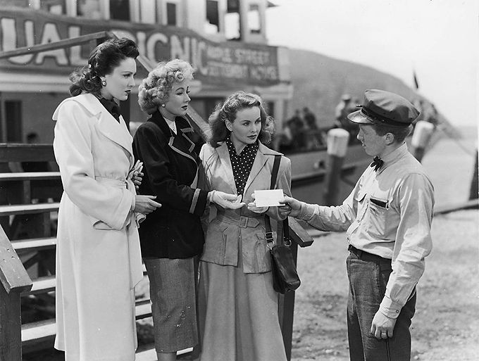"""Linda Darnell, Ann Sothern, and Jeanne Crain in 1949's """"A Letter to Three Wives."""""""