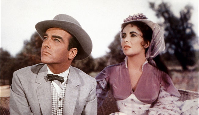 """Elizabeth Taylor and Montgomery Clift in 1957's """"Raintree County."""""""