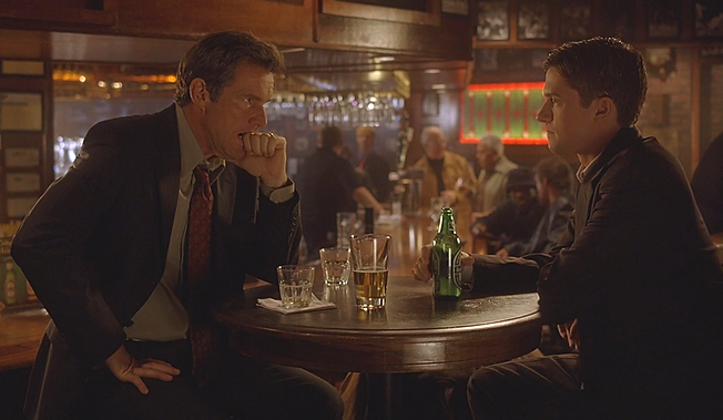 """Dennis Quaid and Topher Grace in 2004's """"In Good Company."""""""