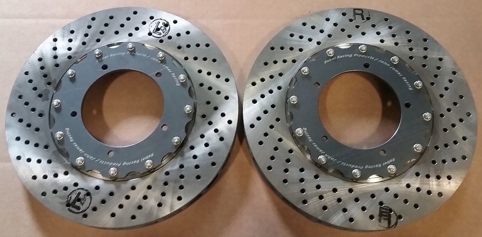 Rebel S Racing (RSR) 930 Front Rotors - Drilled (pair)