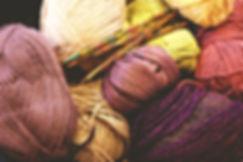 Ovillos de hilo de tejer