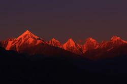 Sunset at Panchachuli Peaks