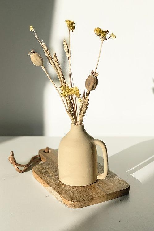 Mini vaas met droogbloemen
