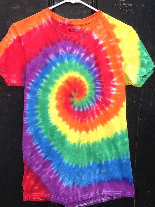 Rainbow Spiral Tie Dye Tee