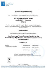 ISO22000 certificate english .jpg