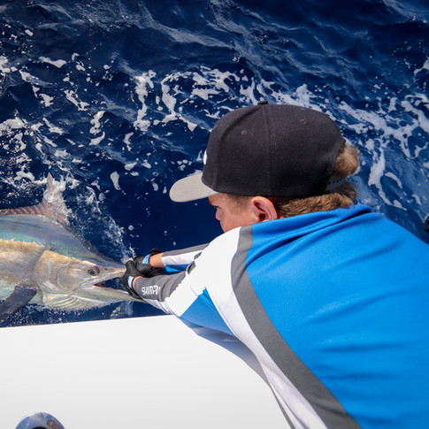 Peri with a Black Marlin