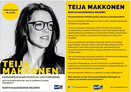 Teija Makkonen PS Vaaliesite Kuntavaalit