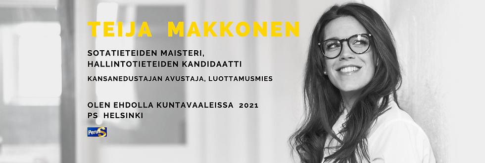 Teija Makkonen PS Helsinki Kuntavaalit 2