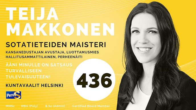 Teija Makkonen Kuntavaalit PS Helsinki Ä