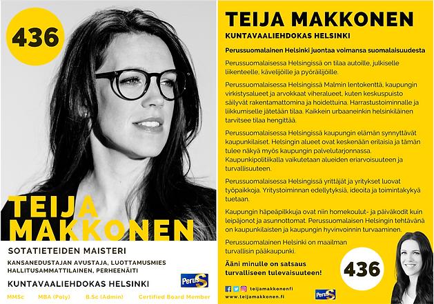 Vaaliesite Teija Makkonen 436 Sotatietei