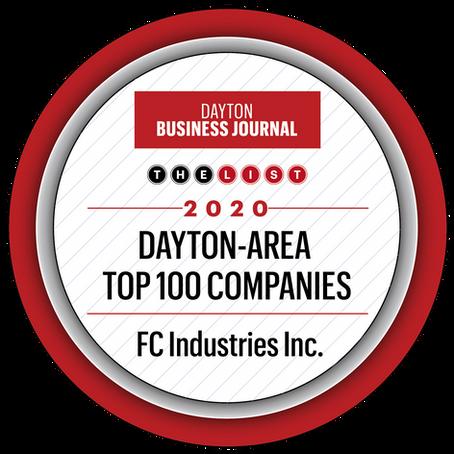 FC Industries, Inc ranks #51 in Dayton Area Top 100