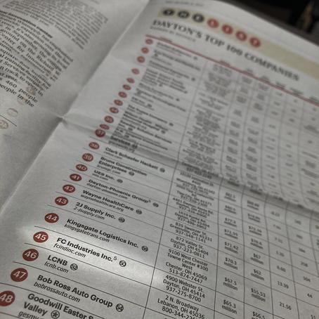 FC Industries, Inc ranks #45 in Dayton Area Top 100