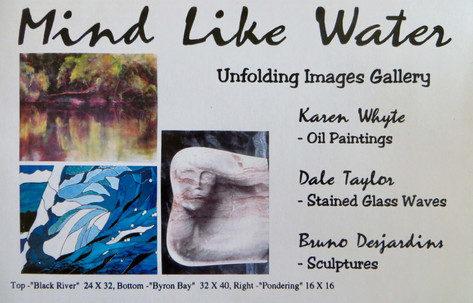 """Mind Like Water"" Art Show Invitation"