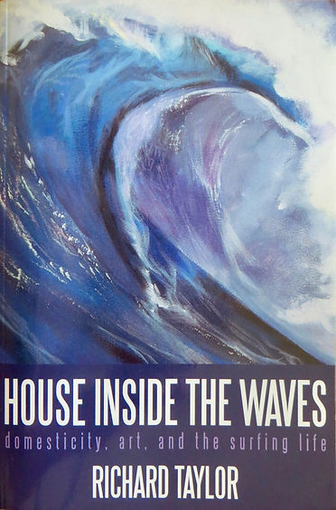 "A detail of my acrylic painting of a breaking wave called ""Sparkle"", used to create the cover of this book called, ""House Inide the Waves"" by Richard Taylor"