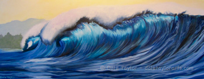 "Acrylic Painting, ""Pipeline Dream"""