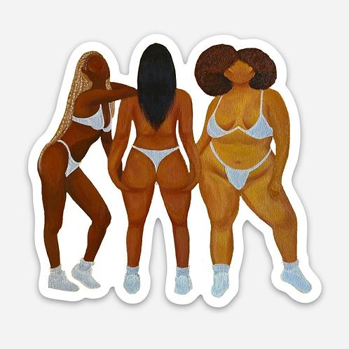 Sticker - Curves Talk