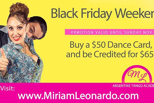 $50 Dance Card