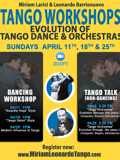 1 Tango Talk class (1 person)