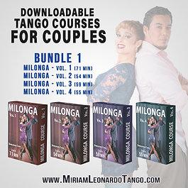 MILONGA Bundle  (4 Downloadable Courses)