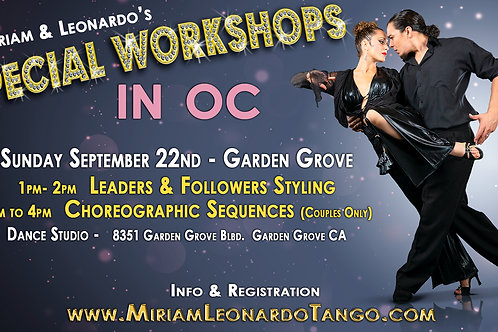 GARDEN GROVE - (Choreography Single)  2pm to 4pm Workshop