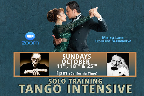 OCTOBER TANGO INTENSIVE + HD Video (1 Person)