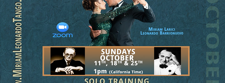 OCTOBER TANGO INTENSIVE  (1 Person)