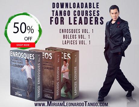 """3 COURSES BUNDLE""  (Downloadable Tango Courses for leaders)"