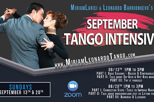 SEPTEMBER TANGO INTENSIVE   (2 People)