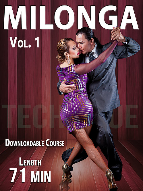 """MILONGA Vol. 1""  (Downloadable Tango Course for Couples)"
