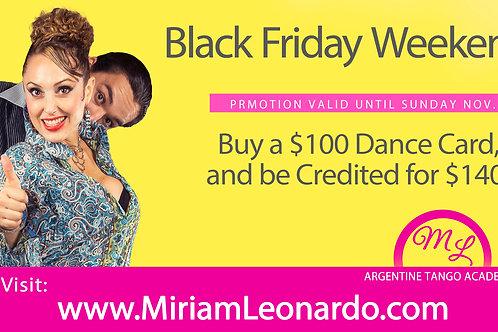 $100 Dance Card